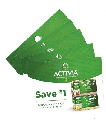 14x Save $1 on Activia Shot Yogurt NEW Coups (Canada)