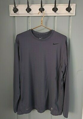 Nike Pro Combat Hyperwarm Compression Dri FIT Max Mock Long Sleeve Royal