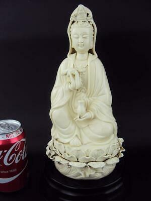 Beautiful Chinese Oriental Porcelain Blanc De Chine Guanyin - Marked!
