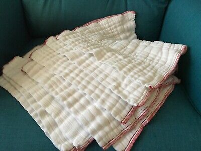 8 Green Mountain Diapers UnbleacheD Cloth-eez Prefold Cloth Diaper Red Edge