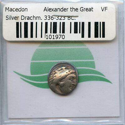 Alexander III The Great 336-323 BC Silver Drachm Macedon Ancient Greek