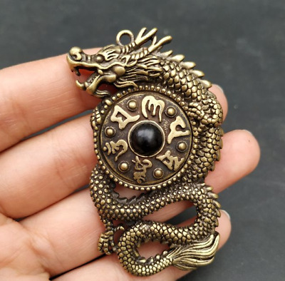 China Ancient Collection All Natural black old agate Ruyi Hand carved Bracelets