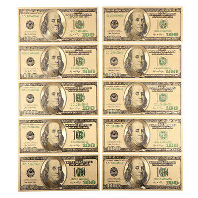 Old Style US $100 Dollar Bill Gold Foil Plated Fake Money Souvenir Money Collect