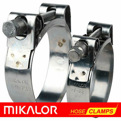MIKALOR Motorcycle Stainless Steel Heavy Duty Hose & Exhaust Pipe Muffler Clamps