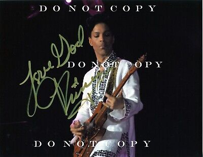 """Prince Hand Signed Autograph 8 1/2"""" X 11"""" Photo - NOT a Reprint!!"""