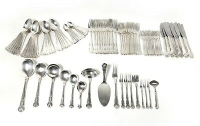 "Silver cutlery set for 12 people. Pattern ""Herregaard"". Denmark, 1957"