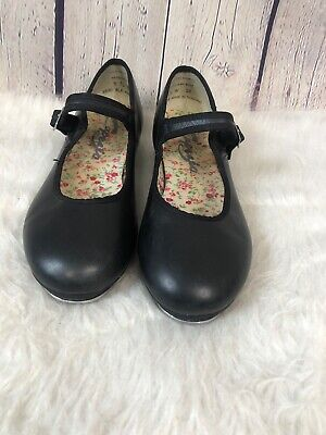 "Character Tap Shoes Black Leather 1 1//2/"" heel ch//ladies #3528 Narrow wdth"