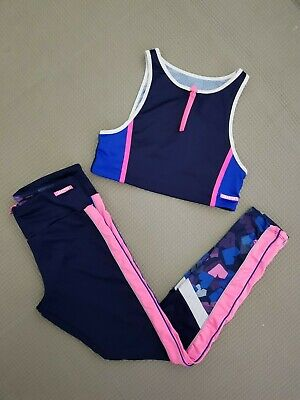 ZARA SPORTS girl's outfit leggings and sports bra size 11-12 years