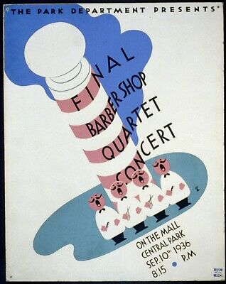Vintage Advertising Poster - Barbershop Quartet (A4/A3 Poster)