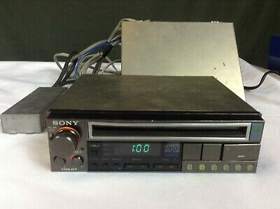 RARE Sony CDX-R7 Early In-Dash Car CD Player w/ All Accessories Powers-On READ