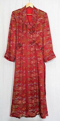 Vintage 1950's Chinese Men's Robe Style Duster Coat in Excellent Condition