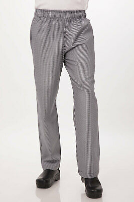 Checkered Chef Pants Chefworks Baggy Basic Essential Kitchen Uniform Sizes XS-XL