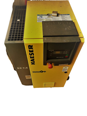 KAESER SX7.5 rotary screw compressor, tank, and more