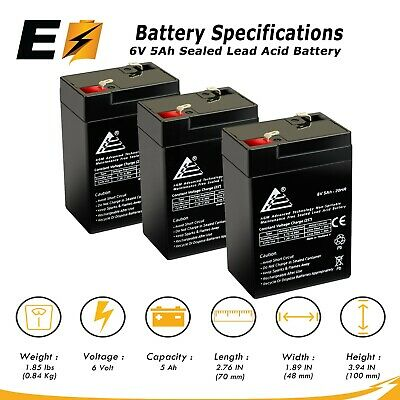 Tempest TR4-6A 6V 4.5Ah Sealed Lead Acid Battery This is an AJC Brand Replacement