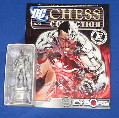 DC Superheroes Chess Figure Collection #58 Cyborg White Rook with Magazine