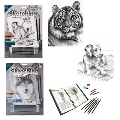 Animals Sketching Made Easy Drawing Kits & Graphite Pencils Set