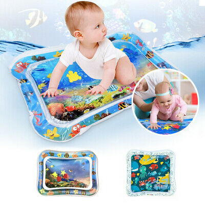 Inflatable Water Play Mat Kids Baby Children Infants Fun Tummy Time Sea World