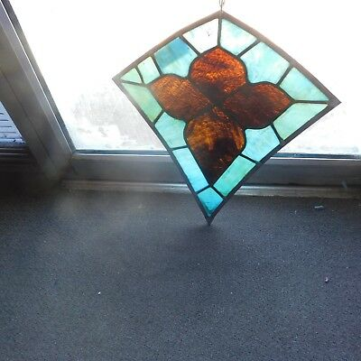 Antique Church Stained Glass Window Architectural Salvage Kite W230