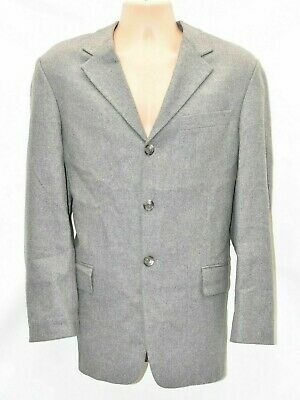 Men's Vintage S.OLIVER Grey Tweed Wool Blend Blazer Jacket L Pit To Pit 23 in