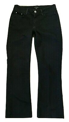 Riders By Lee Womens Jeans Sz 10 M Black Stretch Bootcut Mid Rise Pants