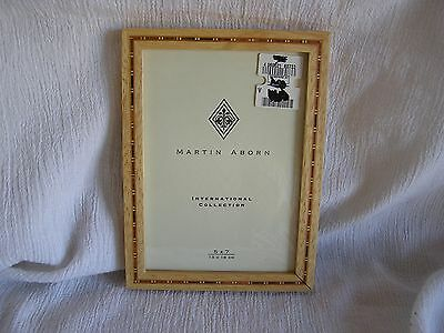 NEW Inlay Wood Marquetry Parquetry Standing Picture Frame Photo 5 x 7 Rustic NWT