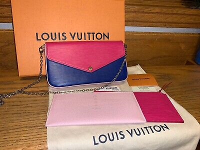 💕Authentic Rare Louis Vuitton Epi Tricolor Felicie With Box, Tag And Zip Insert