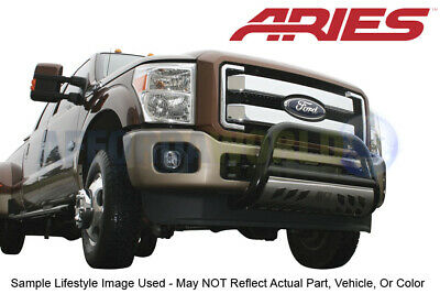 """Aries Black SS 3"""" Bull Bar With Skid Plate For Frontier/Xterra Select Years"""