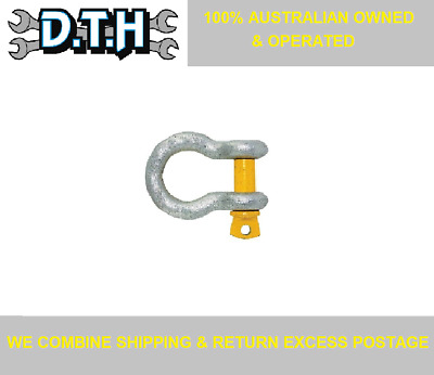 12Mm (1/2'') 2000Kg (2 Tonne) Rated Bow Shackles 2X, 4X, 6X, 8X Or 10X Pieces