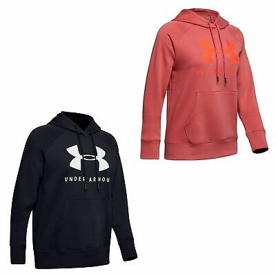 Under Armour Rival OTH Hoodie Womens Top Ladies Hooded Jacket Lightweight