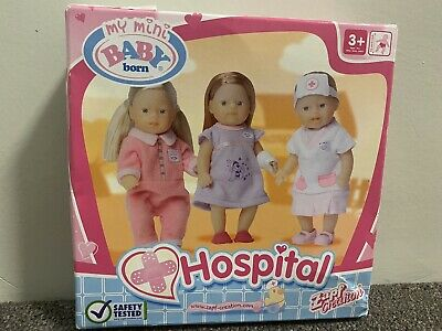 Baby Born Miniworld Hospital Trio Doll Set. BNIB. Highly Collectible!