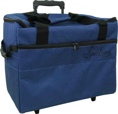 SEW EASY Tote - Craft Rolling Travel Trolley Blue - Sewing Bag Scrapbooking