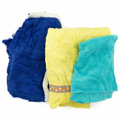 Reclaimed Terry Towel/Robe Rags, Assorted Colors, 50 Lbs.