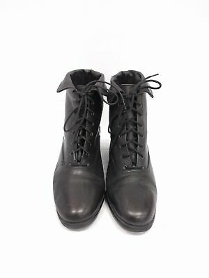 Sz 39 Vintage 90s CANDA Ladies Classic Black Grunge  Lace up leather ankle boots
