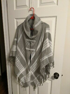 MixIt Maternity Cape/Poncho Beautiful grey/silver/white cowl collar NWT