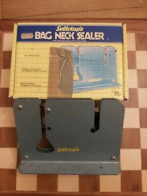 Vintage 1980s Boxed Sellotape Bag Neck Sealer For Tape Up To 132M Long 9MM Wide