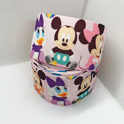 1 Yard Red Minnie Mouse Ears Girls Grosgrain Ribbon Cake Craft Bow Wide 38mm UK
