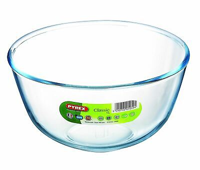 Pyrex Glass Mixing Bowl 2L Fridge Microwave Dish Storage Ovenproof Baking Cook