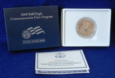 Mint in package 2008 S BALD-EAGLE Clad Commemorative Half Dollar WITH COA EA6