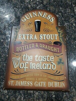 Guinness Extra Stout Wooden Beer Pub Sign Taste Of Ireland