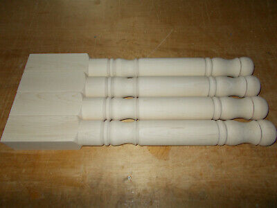 Maple Wood Table Legs Unfinished 21-1//4 x 2-1//4 inch