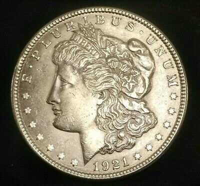 1921 Philadelphia Mint Silver Morgan Dollar UNC - D19