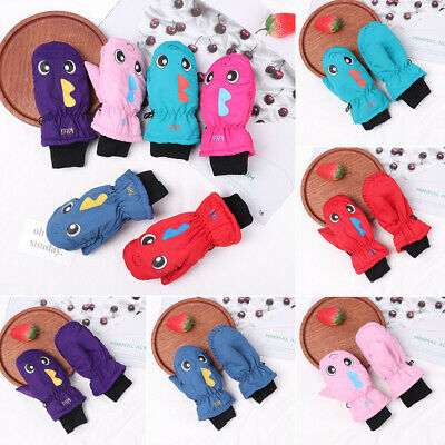 Snow Snowboard Outdoor Riding Long-sleeved Mitten Children Ski Gloves