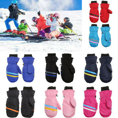 Kids Children Ski Gloves Long-sleeved Mitten Snow Snowboard Outdoor Riding