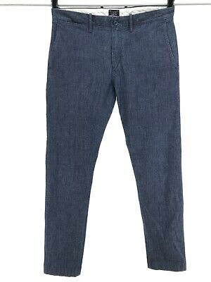 J.Crew 31 x 32 Chambray Stretch Chino Pant in 484 Slim Fit Mens