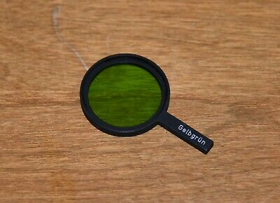 Leica Leitz Wetzlar Microscope 32/35 mm Gelbgrun yellow-green filter Great Shape