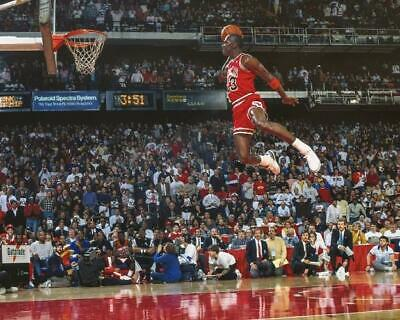Chicago Bulls Michael Jordan 1988 Slam Dunk Contest 8x10 Photo L-105