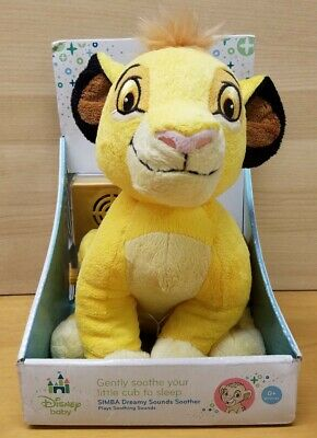 Cloud B Disney Baby Dreamy Sounds Soother Simba Lion King Music Crib Plush NEW