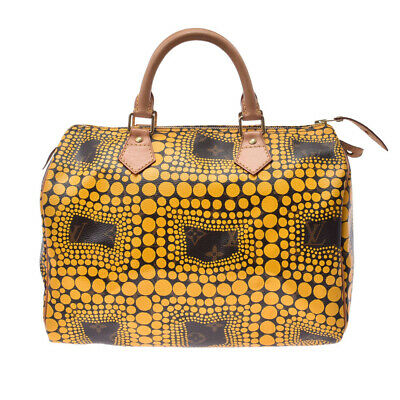 LOUIS VUITTON Pumpkin Dot Speedy 30 Yayoi Kusama yellow M40692 802500030310000