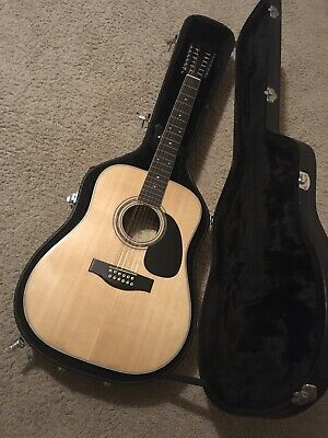 Suzuki Three S F250 Acoustic Guitar 12 String Japan Early 1970s/case  Sold As-Is