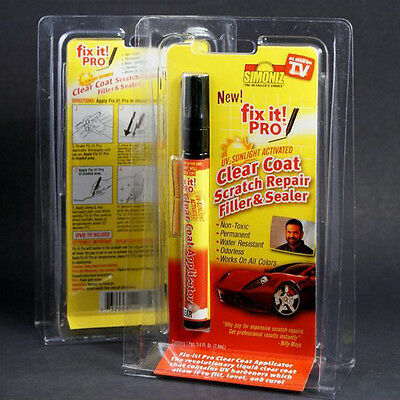 Car Scratch Repair Remover Pen Clear Coat Sealer And Filler Works On All Colors